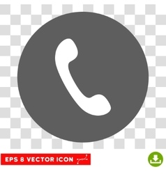 Phone receiver round eps icon vector