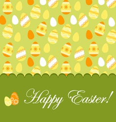Easter greeting card with pattern vector