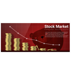 Finance concept background with stock market vector
