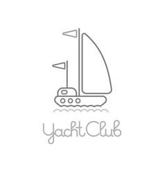 Yacht club icon vector