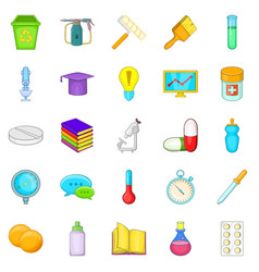 Experience icons set cartoon style vector