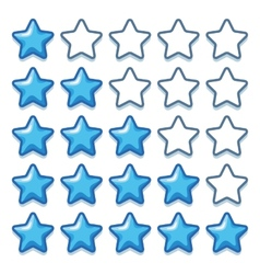 Game ice web rating stars set on white vector