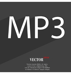 Mp3 music format icon symbol flat modern web vector