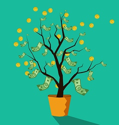 Money tree of successful business vector