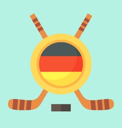 Hockey in germany vector