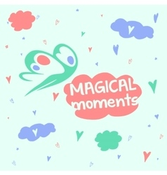 Magic moments good mood head in the clouds vector