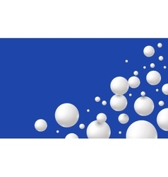Drops of milk or yogurt on blue background vector