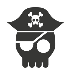 Pirate skull isolated icon design vector