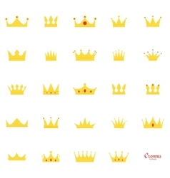 Abstract cute crown vector