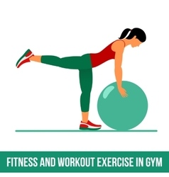 Aerobic icons ball exercise vector