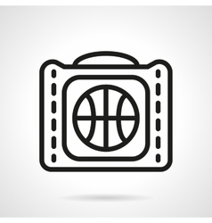 Basketball bag black simple line icon vector