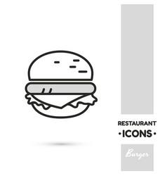 Burger linear icon vector
