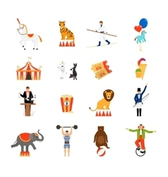 Circus flat icons vector