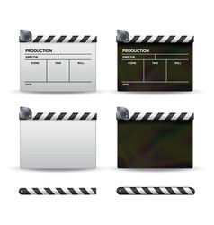 clapper board set of movie clapper board vector image vector image