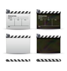 Clapper board set of movie clapper board vector