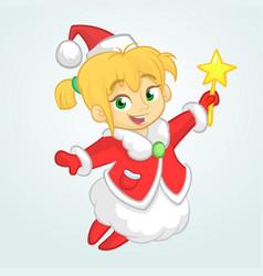 cute cartoon christmas angel character vector image
