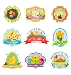 Easter emblem set vector