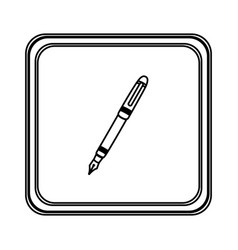 figure emblem ballpoint icon vector image vector image