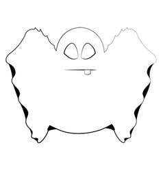 Isolated cute ghost vector