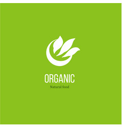 Leaves logo for organic product vector