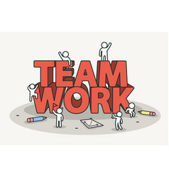 little white with team work text teamwork and vector image vector image
