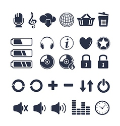 Media player universal icons vector