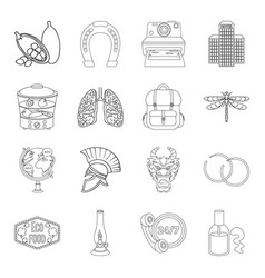 Medicine cooking travel and other web icon in vector