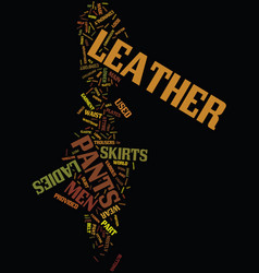Men s leather pants and ladies leather skirts vector