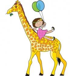 Natalie's Giraffe vector image vector image
