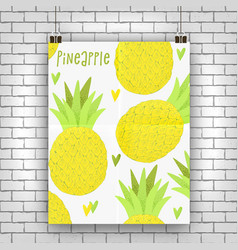 Pineapple exotic design vector