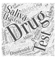 Saliva drug test word cloud concept vector