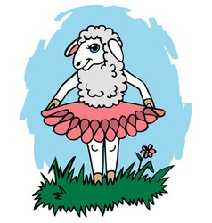 Sheep in skirt vector