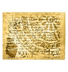 Vintage Travel Letter vector image