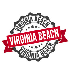 Virginia beach round ribbon seal vector