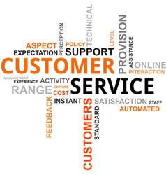 Word cloud customer service vector