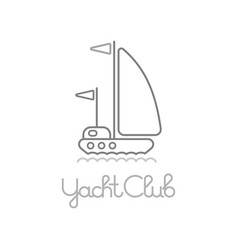 yacht club icon vector image vector image