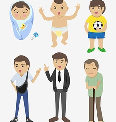 Different ages vector