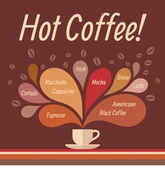 Coffee Cap and Sprays 2 vector image