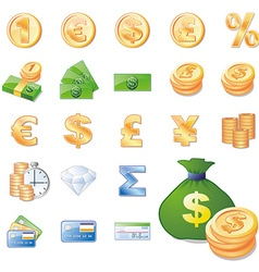 Money set vector