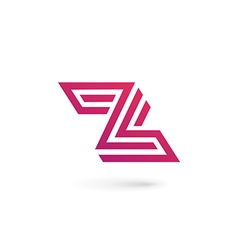 Letter z number 2 logo icon design template vector