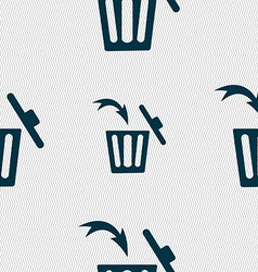Recycle bin sign icon seamless abstract background vector
