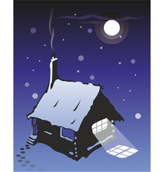 Wooden cottage vector