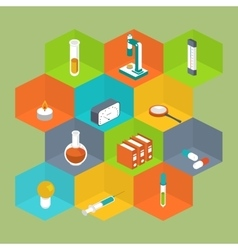 Science icon isometric style medical symbol vector