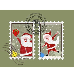 Xmas stamp vector