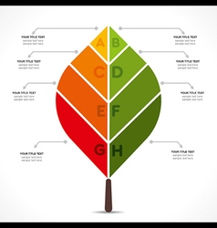Creative leaf info-graphics design concept vector