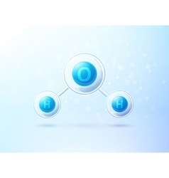 Water blue molecule h2o science background vector