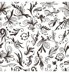 Graphic black and white pattern with swirls vector