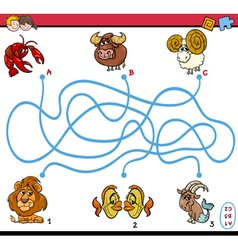 Maze puzzle activity for kids vector