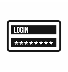Login and password icon simple style vector