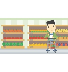 Man with shopping list vector